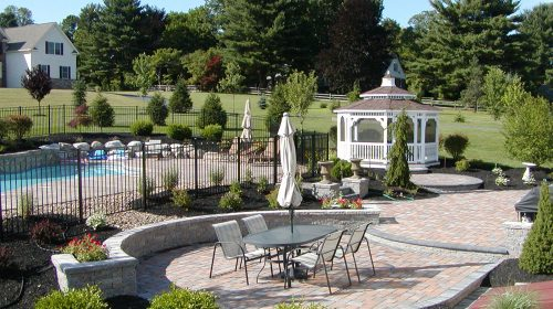 Landscape design gazebo-n-pool