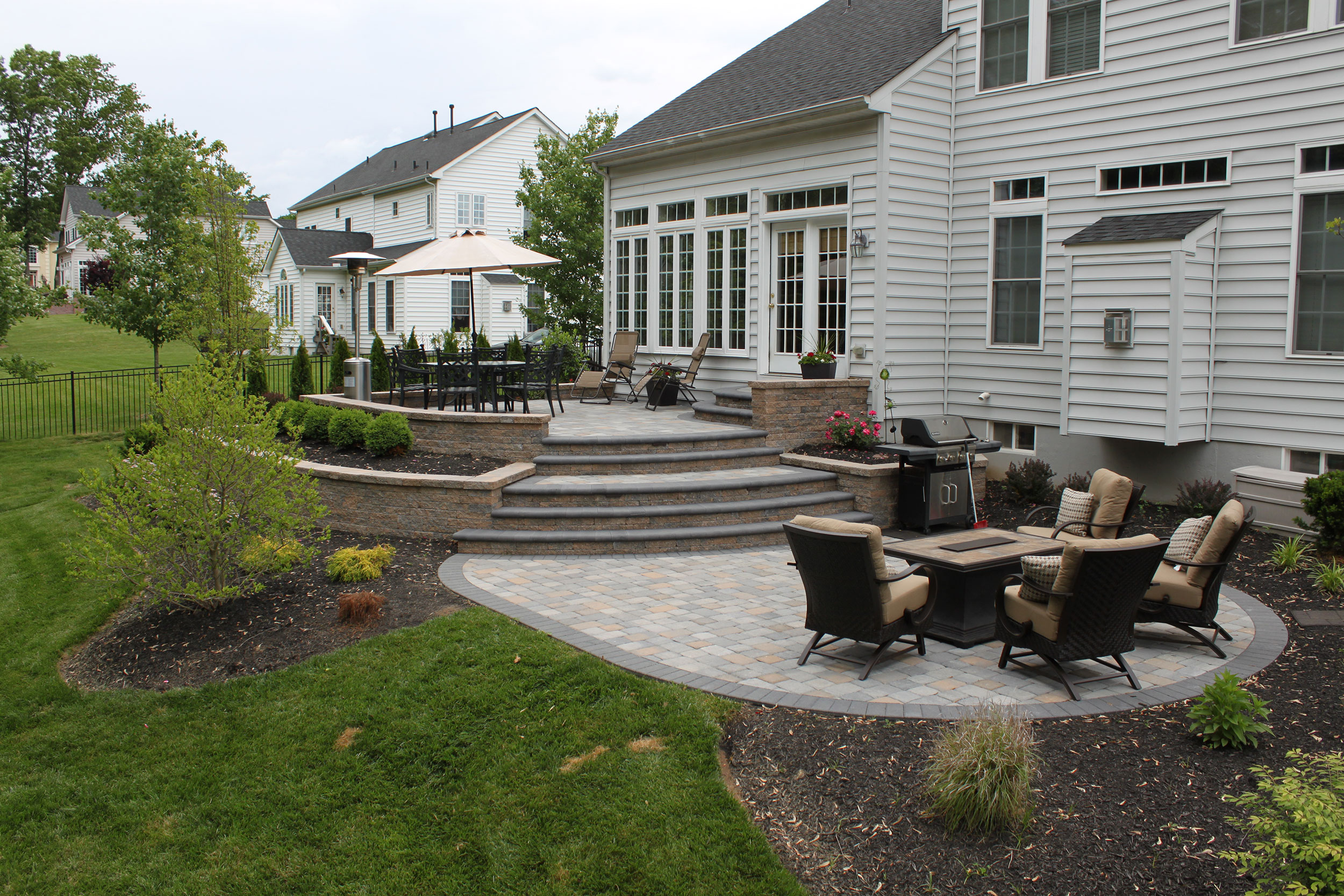 Doylestown Raised Patio | R&R Cad Landscape Design on
