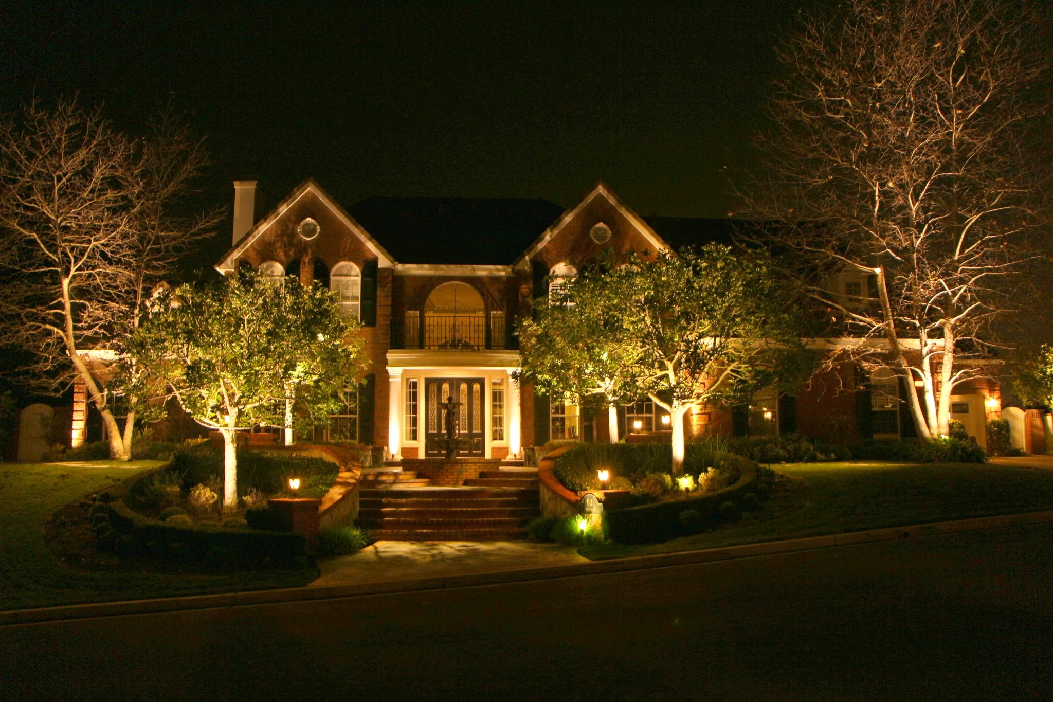 Landscape lighting r r caddick landscape design