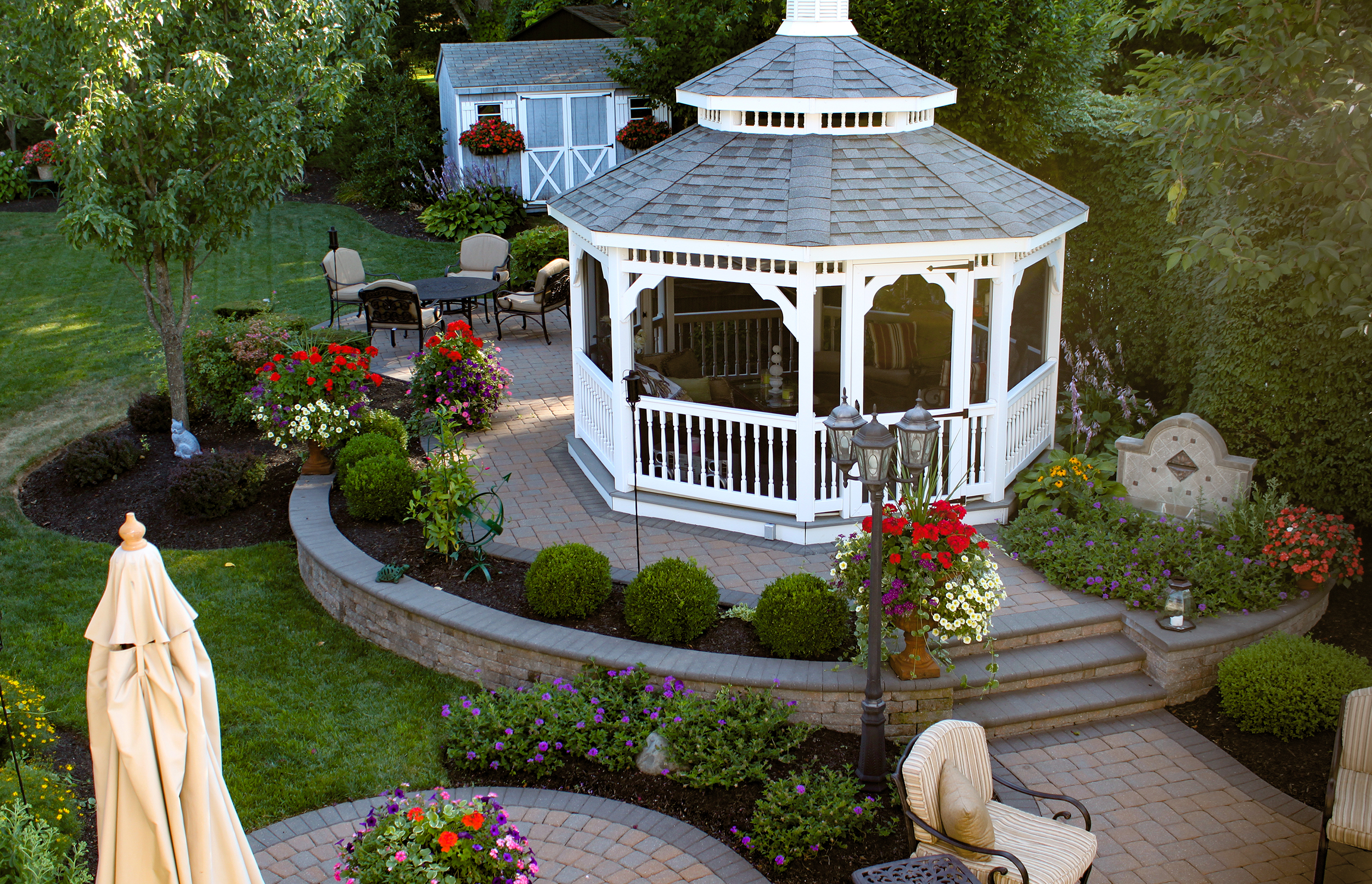 Octagon Gazebo Paver Patio