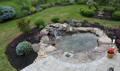 Aquascape Pond waterfall Bucks County pa